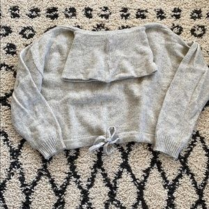 Cowl neck cropped sweater from H&M